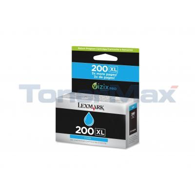 LEXMARK NO 200XL RP INK CARTRIDGE CYAN HY